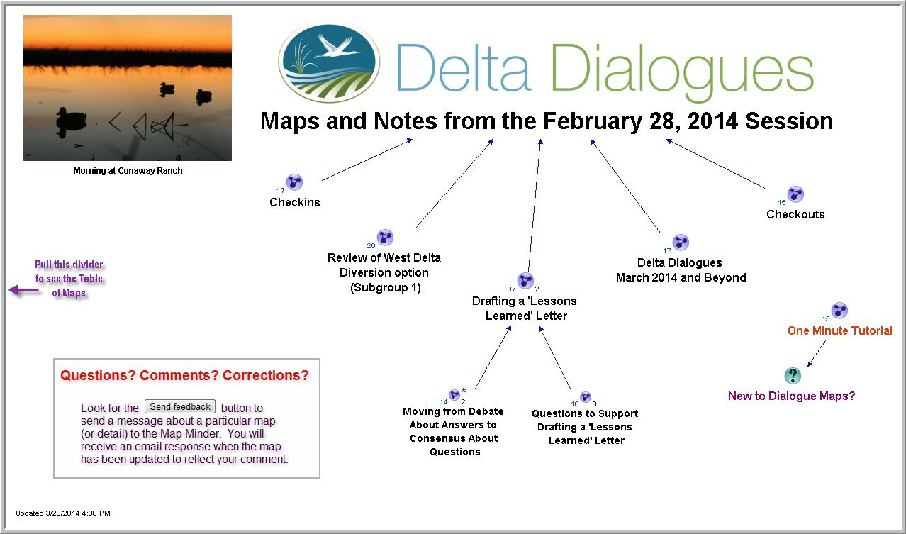 February 2014 Dialogue Maps